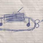 Sleigh with handles and wheels, Marco, 4 years old