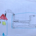 Smoke station with electricity output at the bottom, Marco, 6 years old